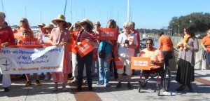 Moms Demand Action gather at the Waterfront Park in Beaufort.