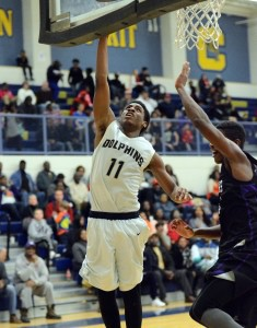 Adonis Williams goes for the lay-up. Photo by Wagner Photography of Bluffton, SC.