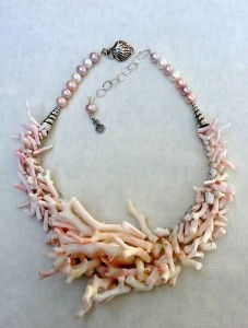Coral Necklace by Barbara Miller