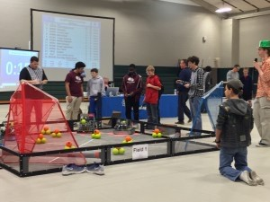 COVER ROBOTICS COMPETING ON FIELD 1