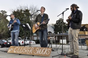 The Cluster Shucks from Beaufort was but one band during the annual Bands Brews and BBQ last weekend. From left are Worth Liipfert, Ben Coppage and Jason Ward.