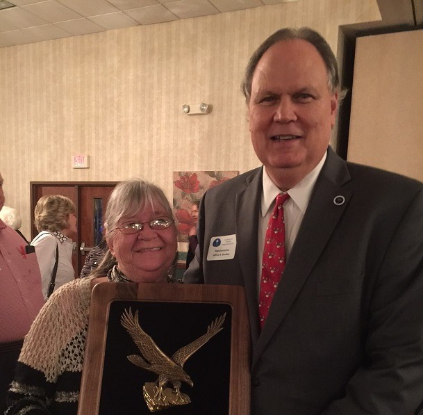 WHOS NEWS - Ms. Parsick is pictured with SC Representative Jeff Bradley, Beaufort District 123