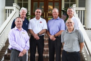 From left: Ted Bartlett, General Manager; Wells Morrison, Security Director; Chief Bruce Kline, Lady's Island Fire District; Sheriff P.J. Tanner, Beaufort County Sheriff's Department; John Schafer, DIC Board President; Mike Carakostas, DIOA Board Member