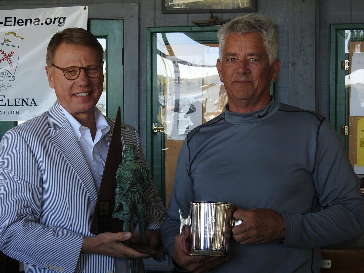 COVER MAYBE John Potter receiving the Santa Elena Regatta Trophy
