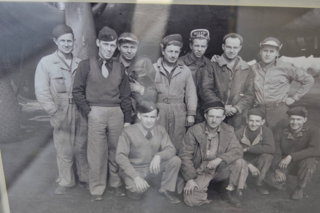 The officers and enlisted men of Brophy's B-17 Bomber.