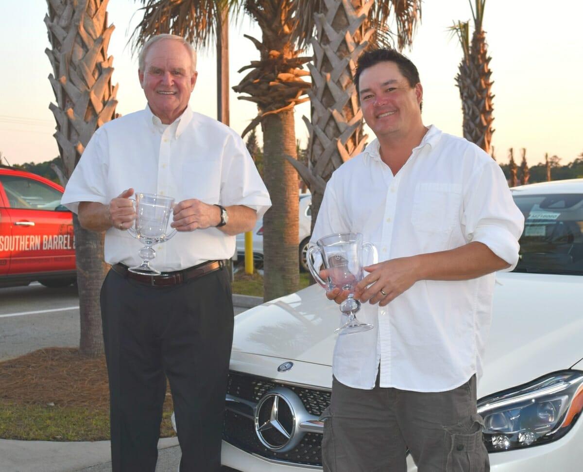 First Annual Mercedes-Benz Dealer Championships winning team, Chuck Michaels (on left) and Jeff Wong.