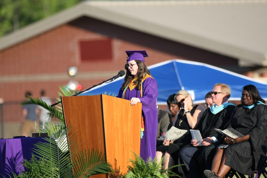 Whale Branch Salutatorian and Senior Class Vice President, London Becker. Photo by Todd Stowe.