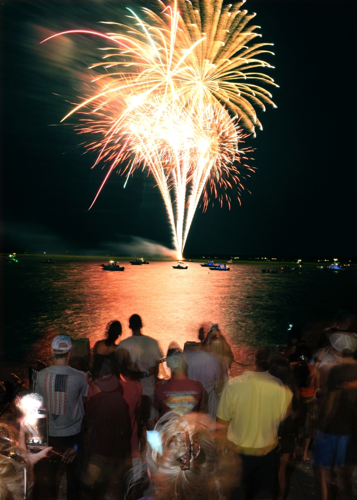 Although a bit breezy, it was a perfect night to be standing near the seawall for the traditional fireworks during the Beaufort Water Festival annual opening ceremony July 15 at Henry C. Chambers Waterfront Park.