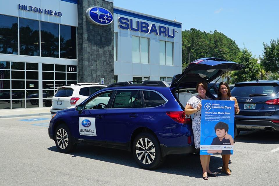 Subaru of Hilton Head donated blankets and messages of hope to a local cancer center.