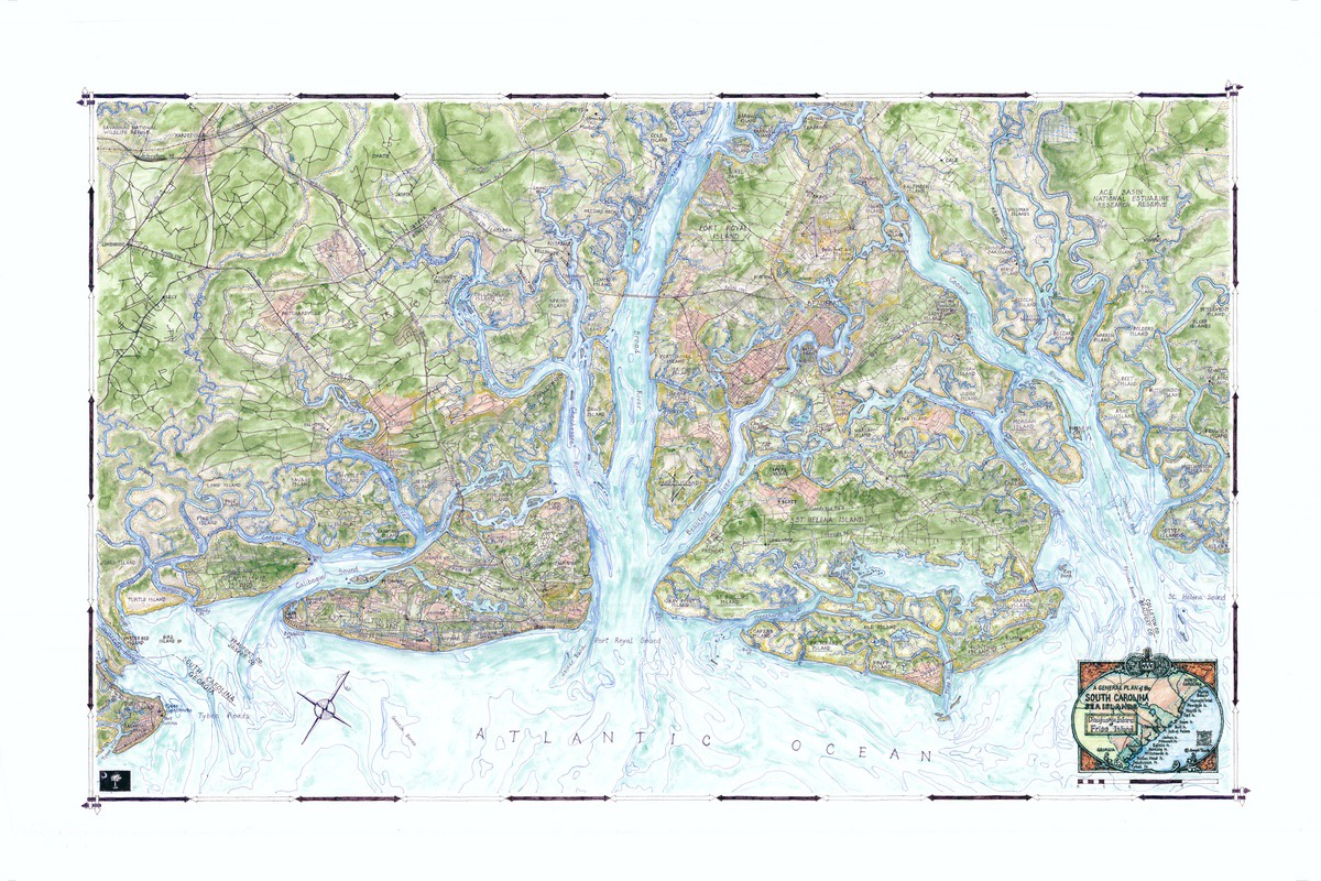 Maps Show Beauty Of Lowcountry Coast The Island News Beaufort SC - Map of sc coast