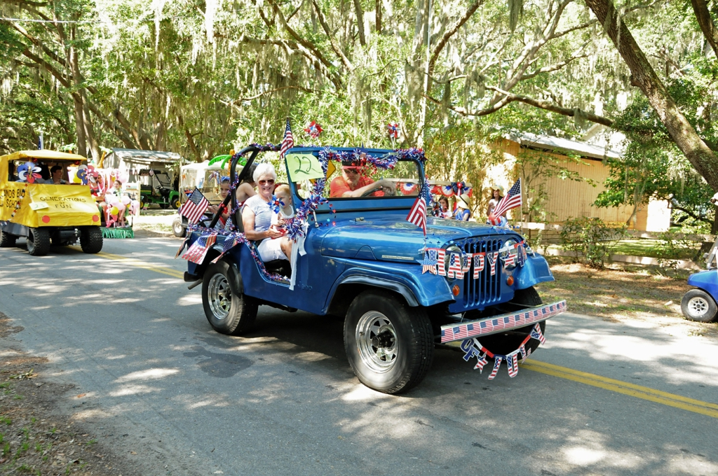 Participants in the parade went all out to show off their patriotic decorations.