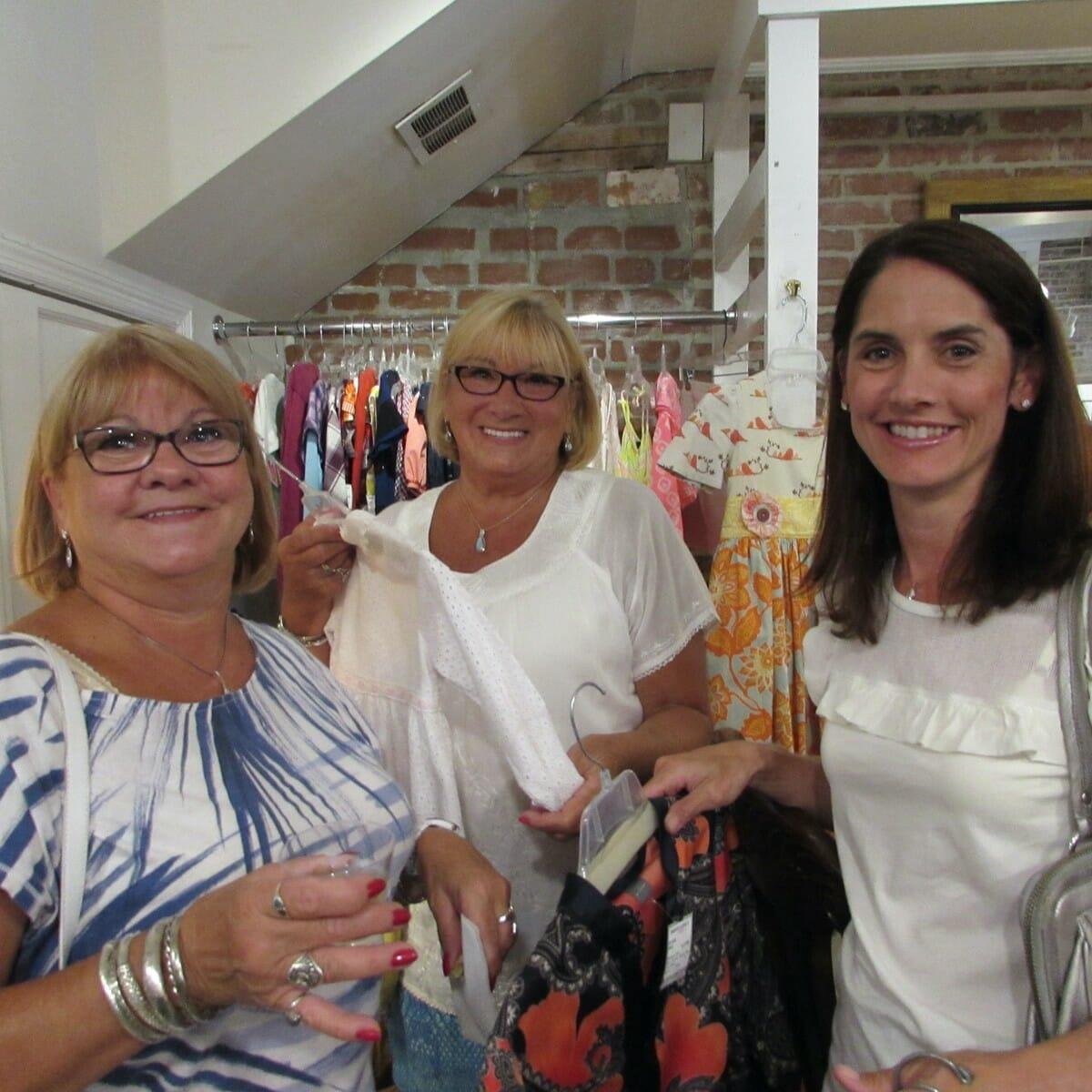 Kathleen Borzacchini, Nancy Loeper and Adrienne Ford