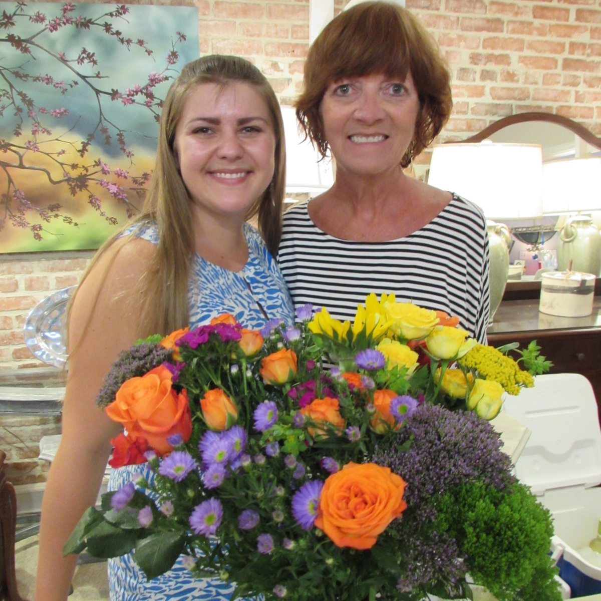 Page Casanova, new owner/manager of Smart Girls and her mother, Martha Hatfield, who made all the snacks.