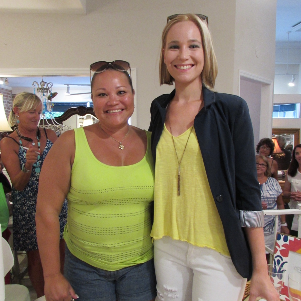 Barbara Kilgore won a GoFlex Training package. She is shown here with owner Amber Bonem.