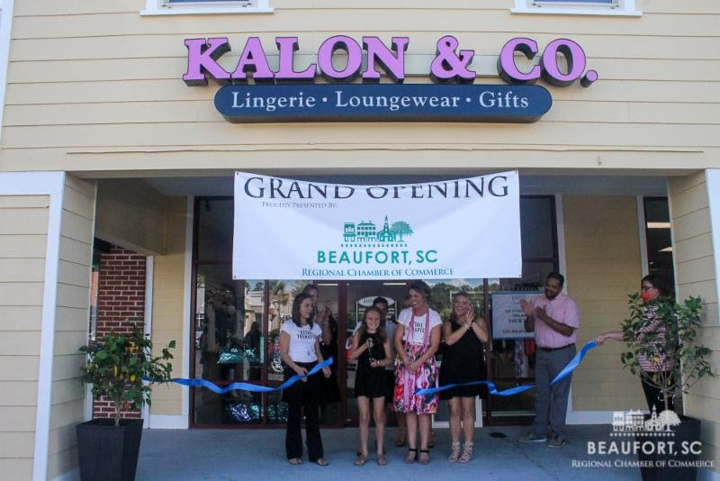 Kalon & Company, which offers intimate apparel, held a grand opening and ribbon-cutting recently. It is located at 803 A-3 Parris Island Gateway (Bi-Lo Shopping Center).