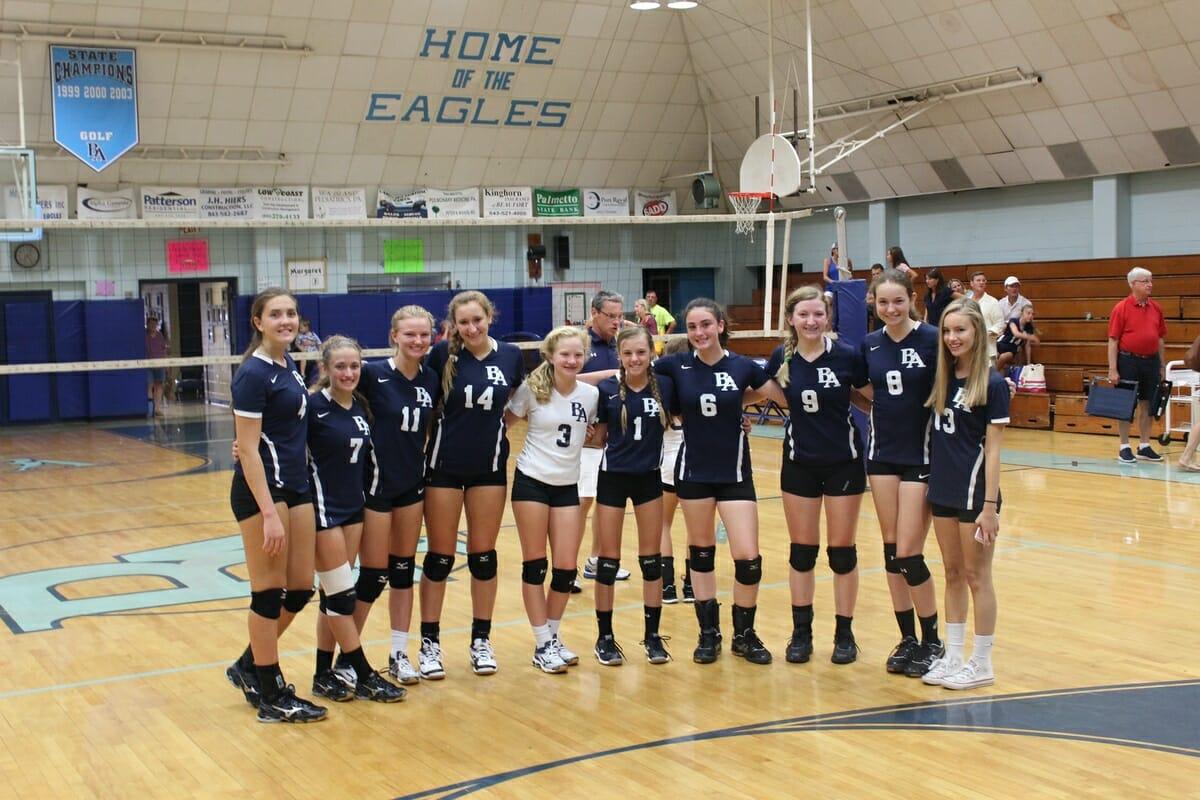 Beaufort Academy varsity volleyball team