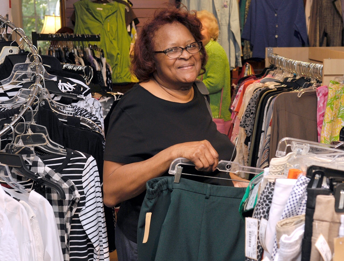 Sarah Nelson enjoys shopping at Island Girls Night Out at Where'd You Get That Consignments.