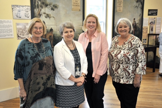 From left are Jan O'Rourke and Grace Cordial, both of the Beaufort County Library System, and Carol Lauvray and Beverly Eggert, both of the Beaufort History Museum. Photo by Paul Keyserling for the Beaufort History Museum.