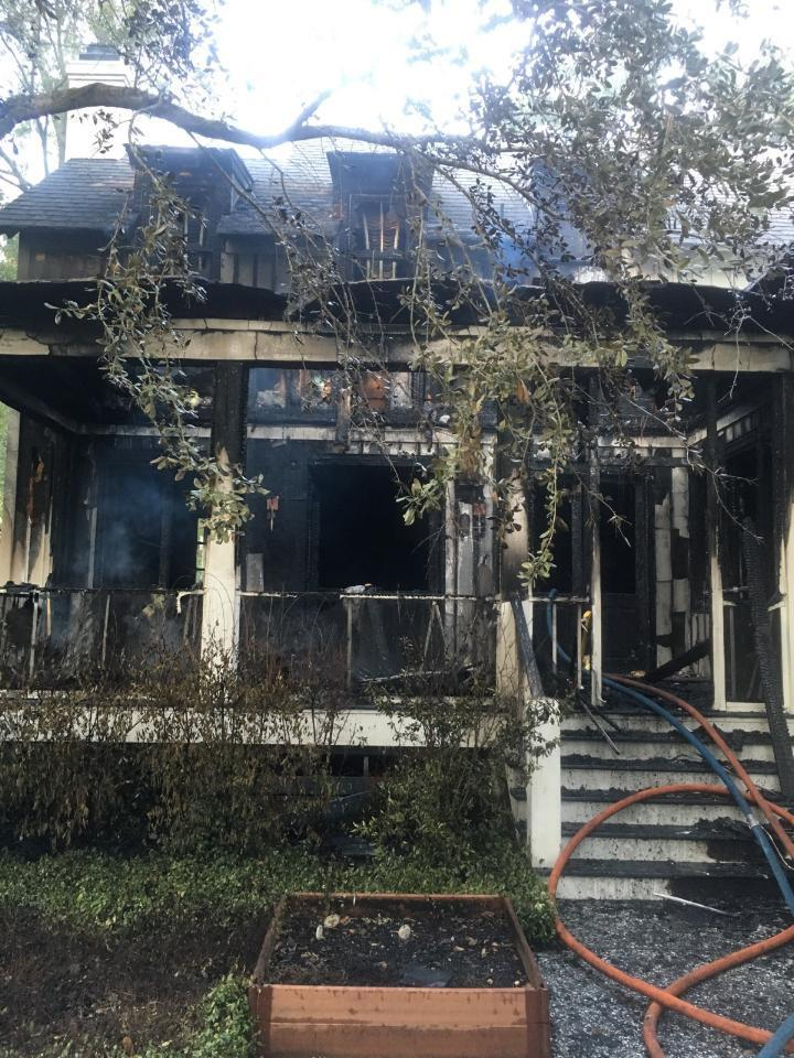 Firefighters responded to a fire at this house in Habersham.