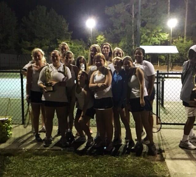 The Beaufort Academy girls' tennis team finished runner-up in the state. Photo courtesy of Beaufort Academy.