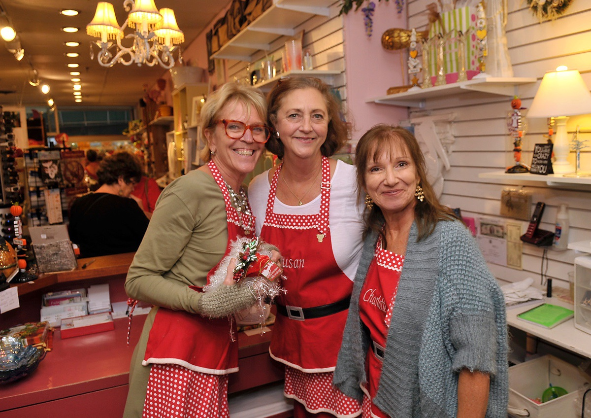 Staff members of Hollyhocks are, from left, Monica Pennington, Susan Bishop and Charlotte Nelson.