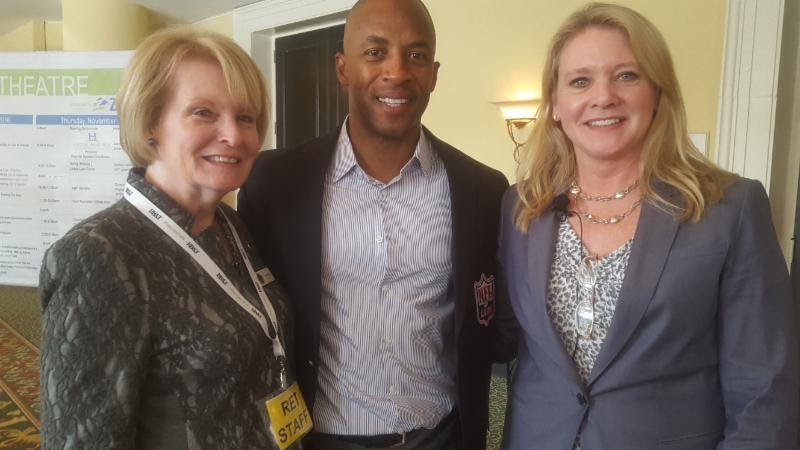 Hilton Head MLS Chief Executive Officer Yvette Acuff, former NFL payer J.J. Birden and Hilton Head COO Colette Stevenson attend the Real Estate Tech Talks in November.