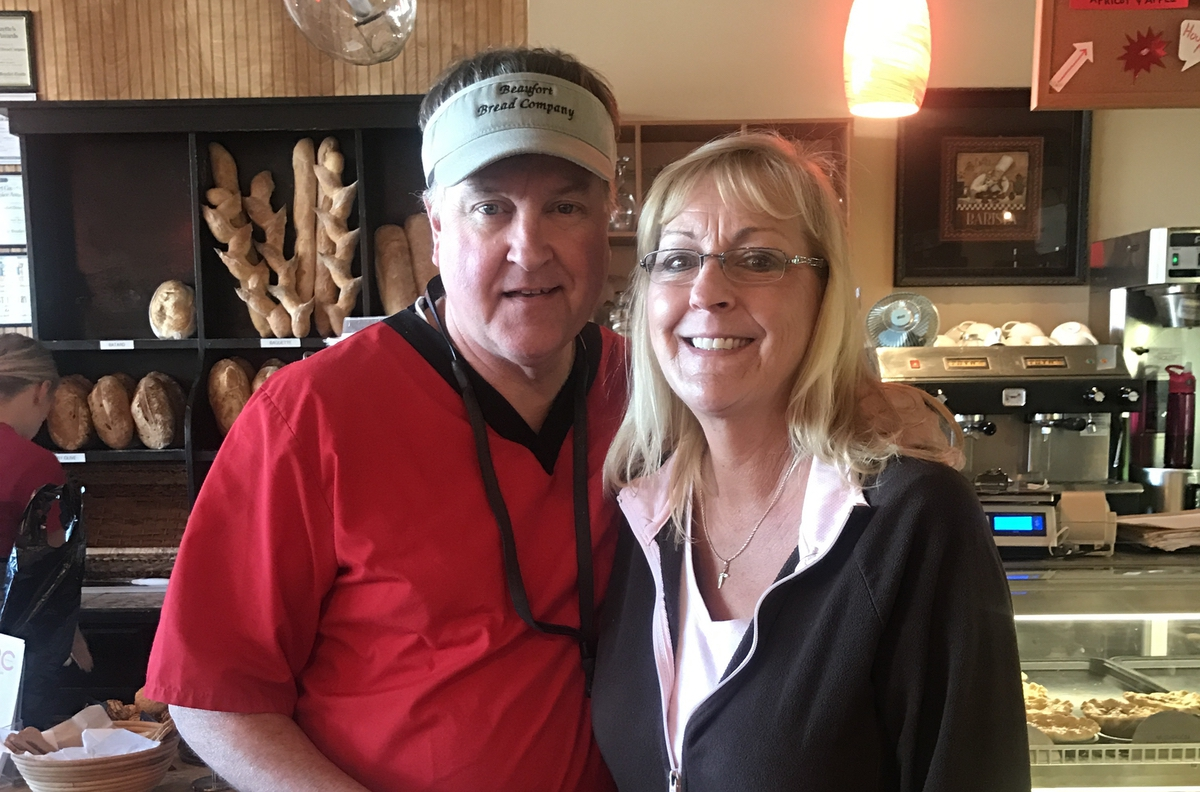 Beaufort Bread Company owners, Eric and Robin Staton