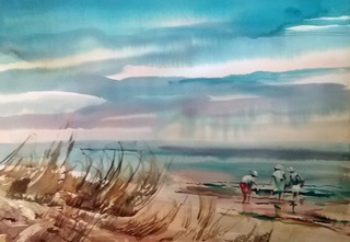 Wayne Chambers' watercolors are often depictions of local scenery.
