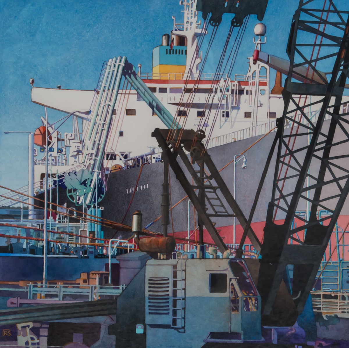 """The painting """"Dockside Dynamics"""" by Robert Steinmetz won last year's Best In Show award at the Beaufort Art Association Spring Show."""