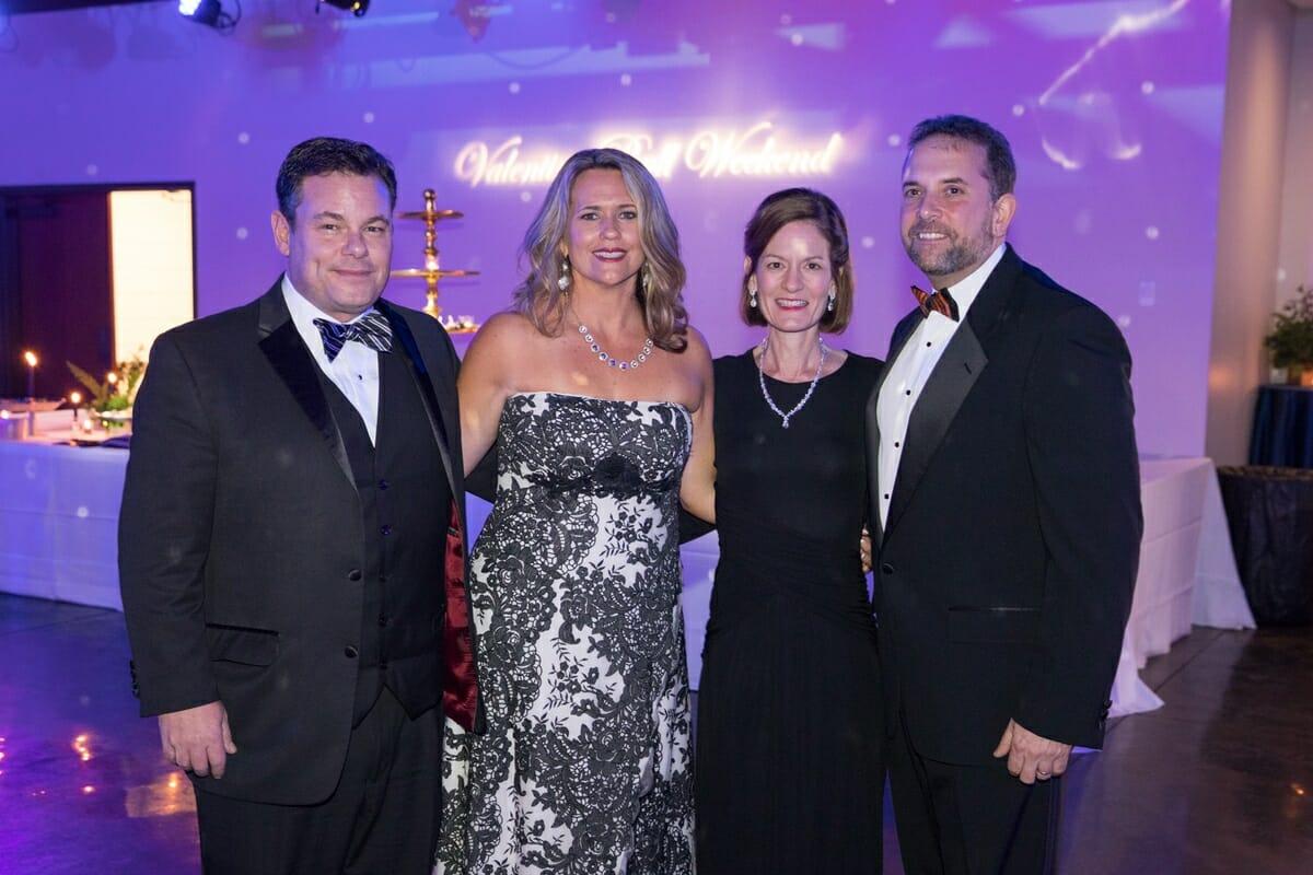 Chris and Amy Geier, Drs Andrea Hucks and Dan Ripley