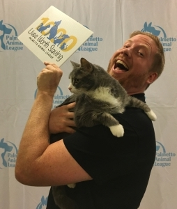 Rock 106.1 radio personality Marshall meets Willow at the Palmetto Animal League.