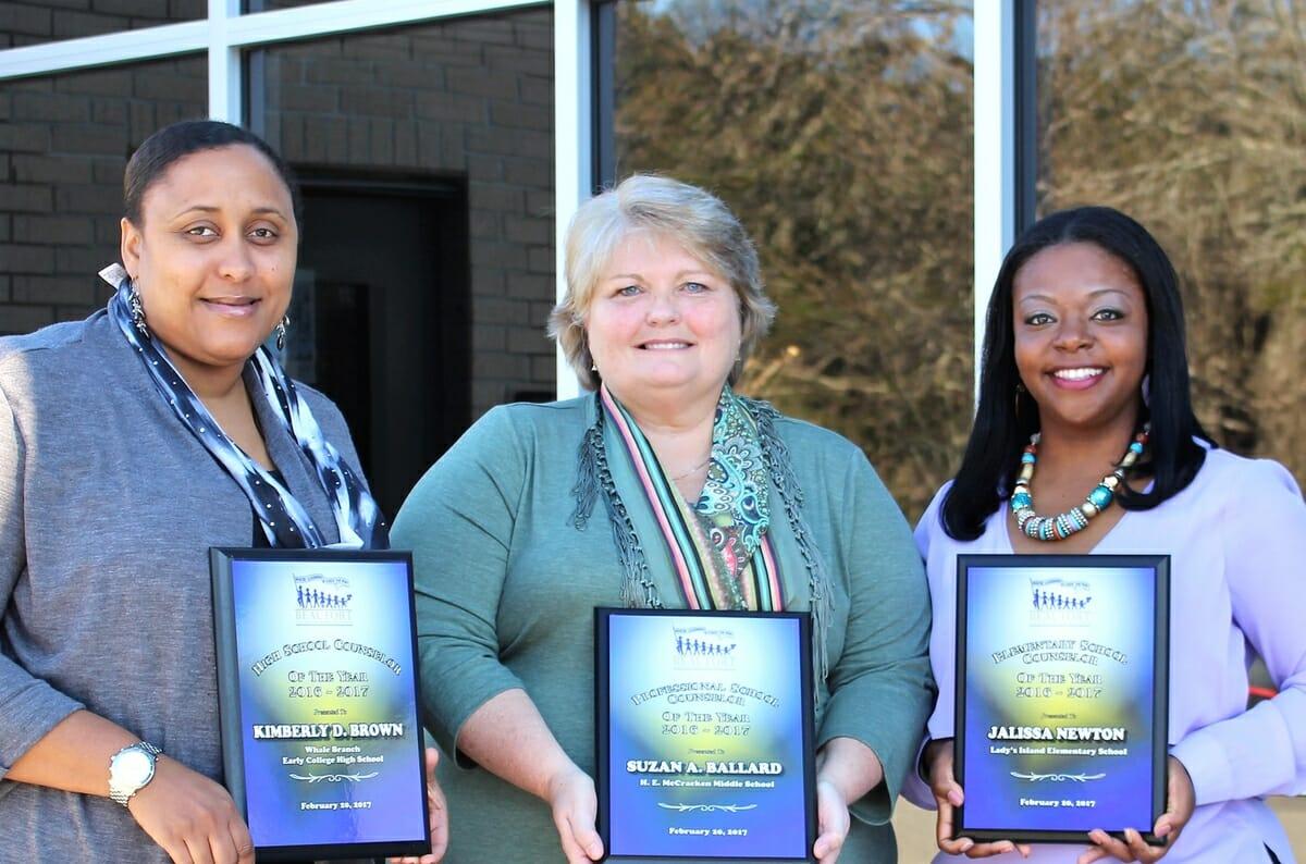 From left are Kimberly Brown, Suzan Ballard and Jalissa Newton.