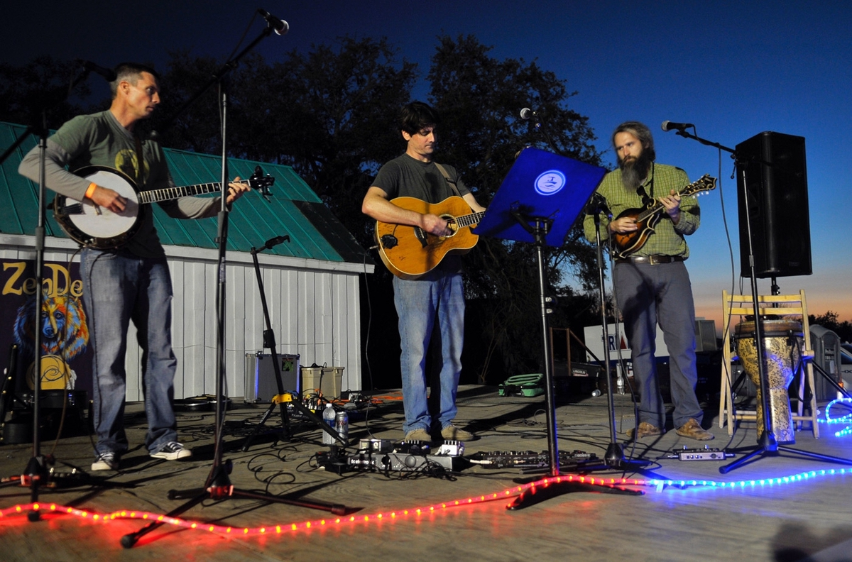Eric Daubert & Friends was the first band to perform during Bands, Brews & BBQ. From left are Worth Liipfert, Eric Daubert and Jason Ward.