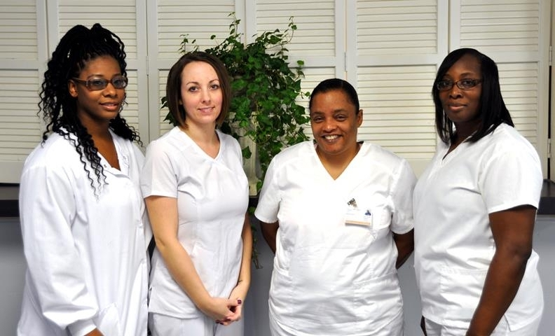 The Technical College of the Lowcountry recently honored five Patient Care Technician program graduates at a February pinning ceremony. The graduates are: Alvin Arcayan, Natoria Bloodsaw, Jean Miller, Delanda Smoaks and Lakezia Taylor, all of Beaufort. For more information about this or other continuing education programs, visit www.tcl.edu/ce or call 843-525-8205.