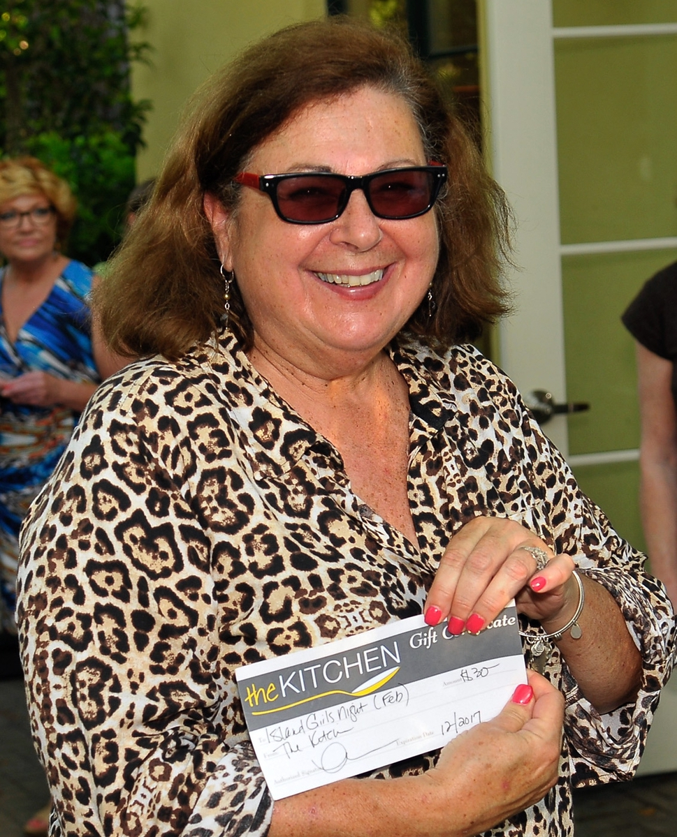 Veronica Robdeau won a gift card from The Kitchen.