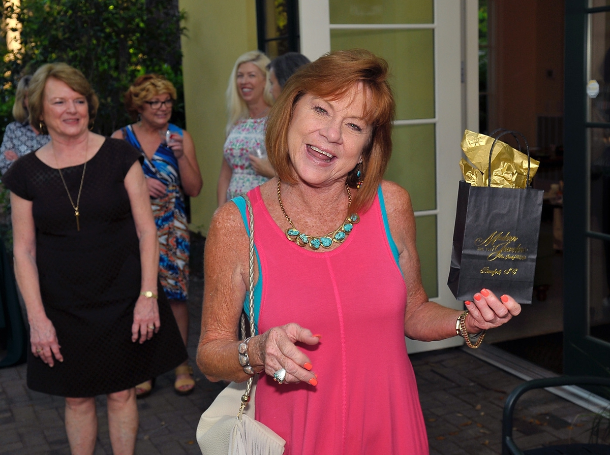 Susan McDowell won a gift from Modern Jewelers on Bay Street.