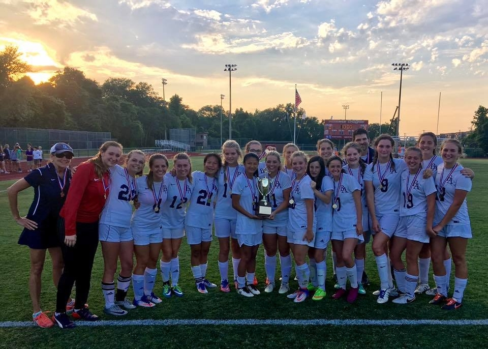 The Beaufort Academy girls' soccer team defeated familiar foe John Paul II 3-1 in the SCISA Class A girls' soccer state championship game at Porter-Gaud School in Charleston on May 12. Photo courtesy of Beaufort Academy.