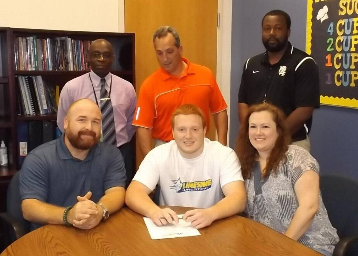 Battery Creek High School wrestler Cooper Kaminsky has signed with Limestone College. Photo provided.