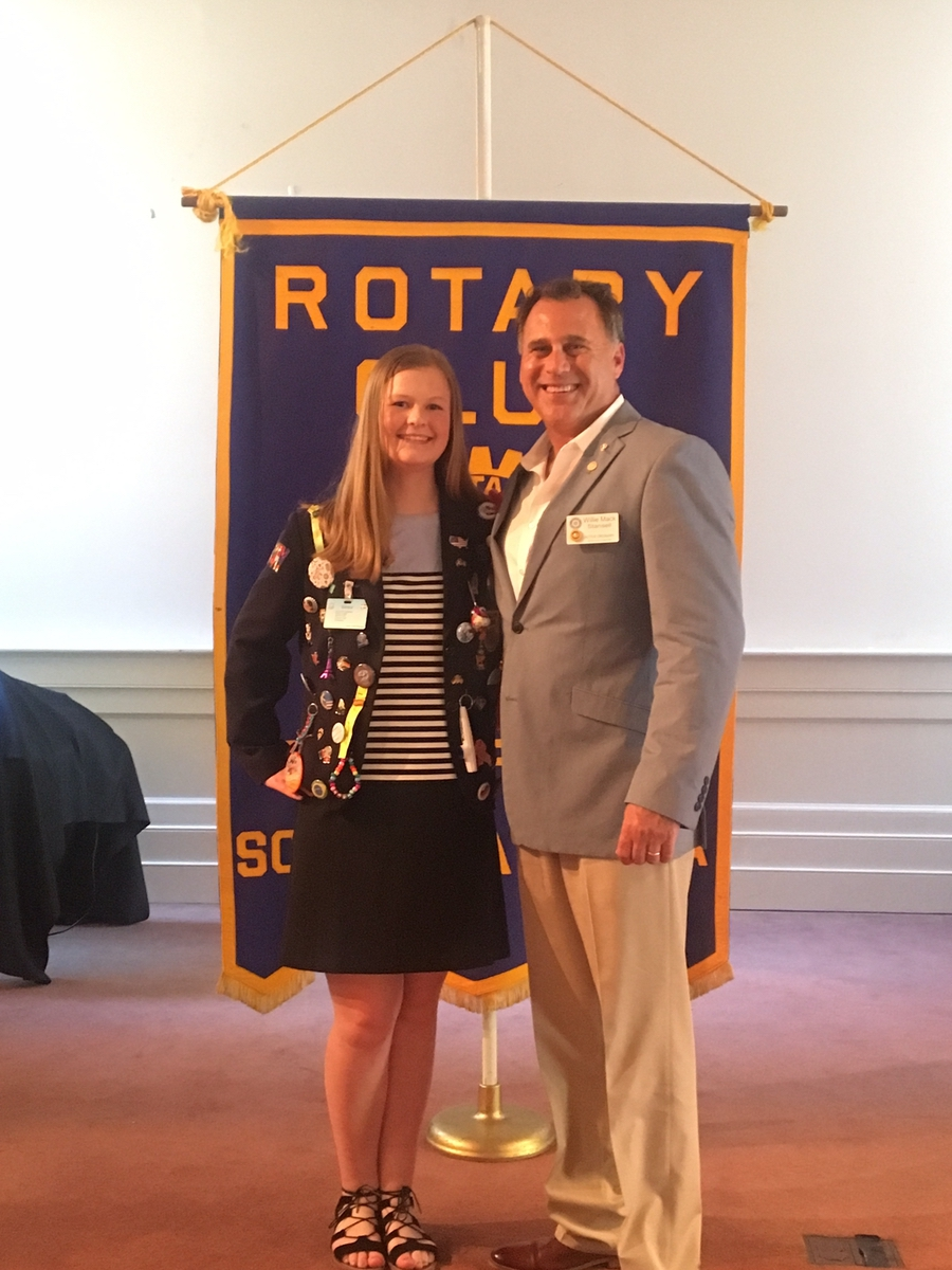 Anderson, from Denmark, is shown with Rotary Club of Beaufort President Willie Mack Stansell. Photo provided.