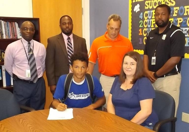 Battery Creek High School wrestler Omar Daniels has signed with Limestone College. Photo provided.