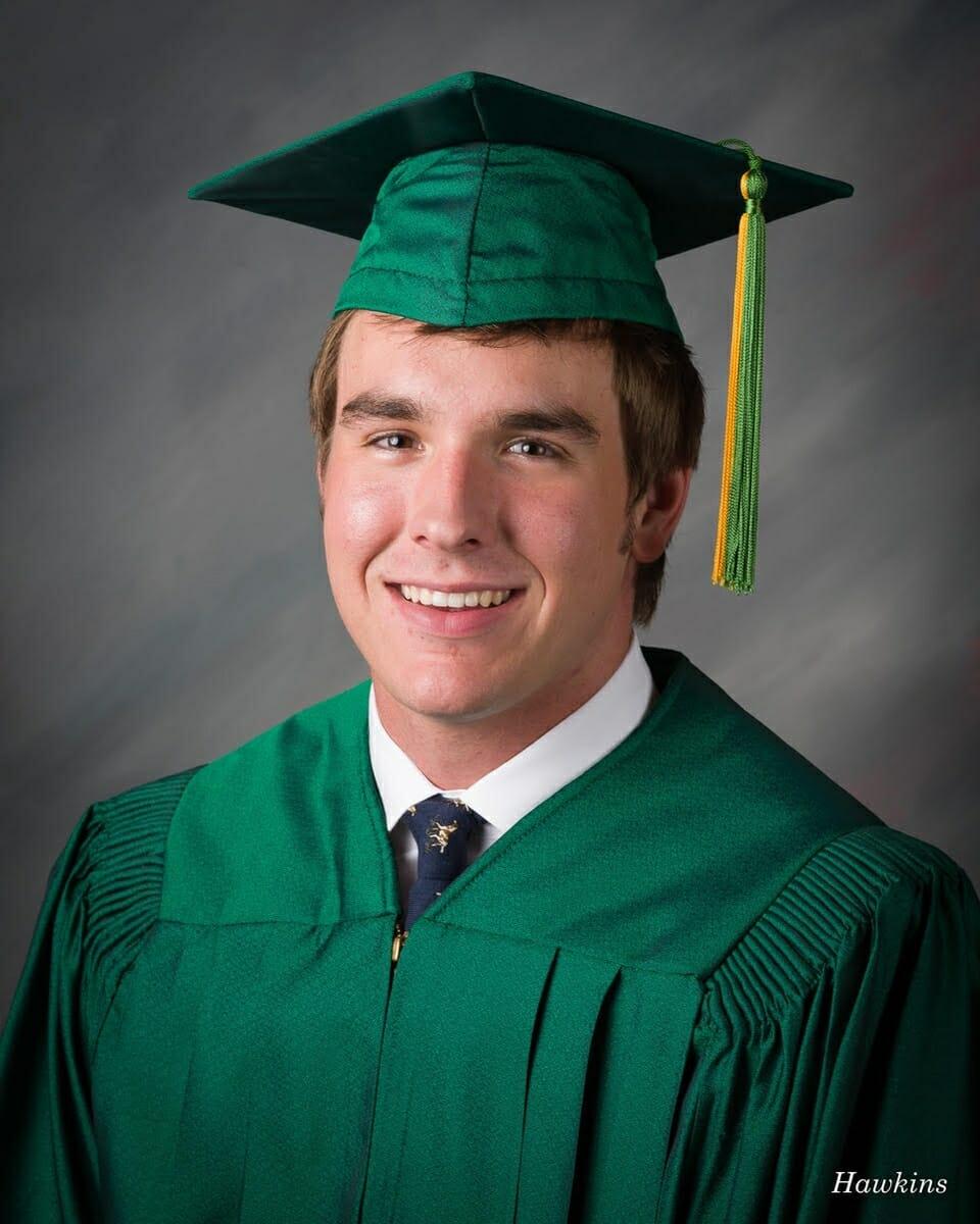 Henry last week as he graduated from high school.
