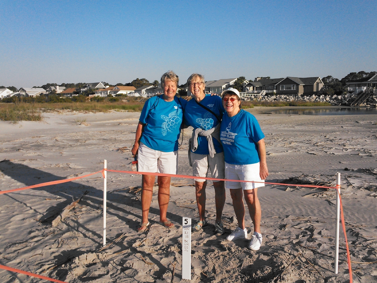 Pictured are a few of the 20 volunteers with the Fripp Island Turtle Team who patrol the beaches throughout nesting season.
