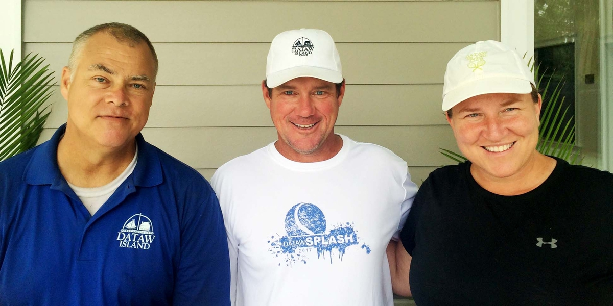 Dennis Johnson, Warren Florence and Sara Bruns are the faces of the Dataw Island Club Tennis Center.