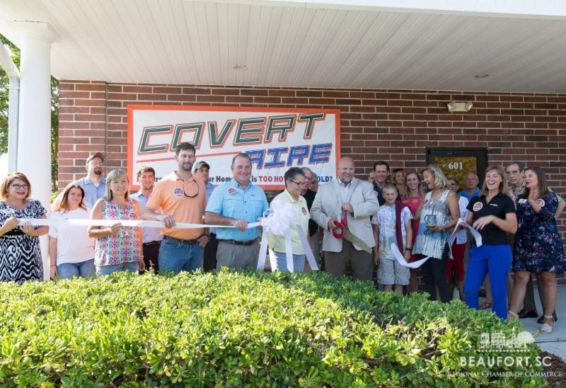 Covert Aire celebrated their 10th anniversary with a ribbon cutting ceremony on July 7. The staff of Covert Aire launched a July Random Acts of Kindness campaign throughout the Lowcountry. They commemorated their 10th anniversary by showing appreciation to the community at large who has helped build the company into what it is today. Mike Covert as well as other staff members plan to perform 10 random acts of kindness in the month of July, one for each year of business.