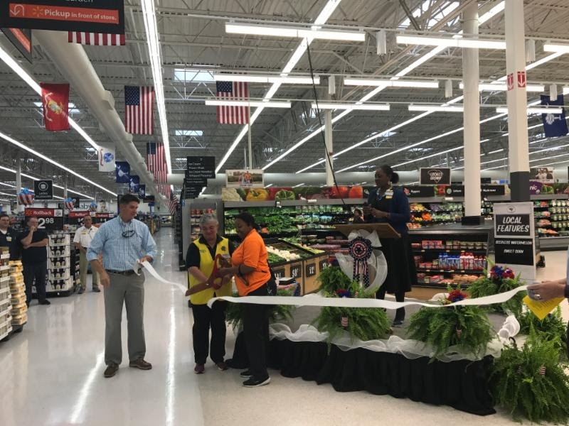 Walmart on Robert Smalls Parkway celebrated its recent renovations with a ribbon cutting ceremony on June 30. Walmart recently made the following renovations to their store: electronics of the future, updated produce and bakery, new gluten-free category in grocery, new registers on the front checkouts, new seasonal and celebrations center and new state-of-the-art tools in hardware. Photo provided.
