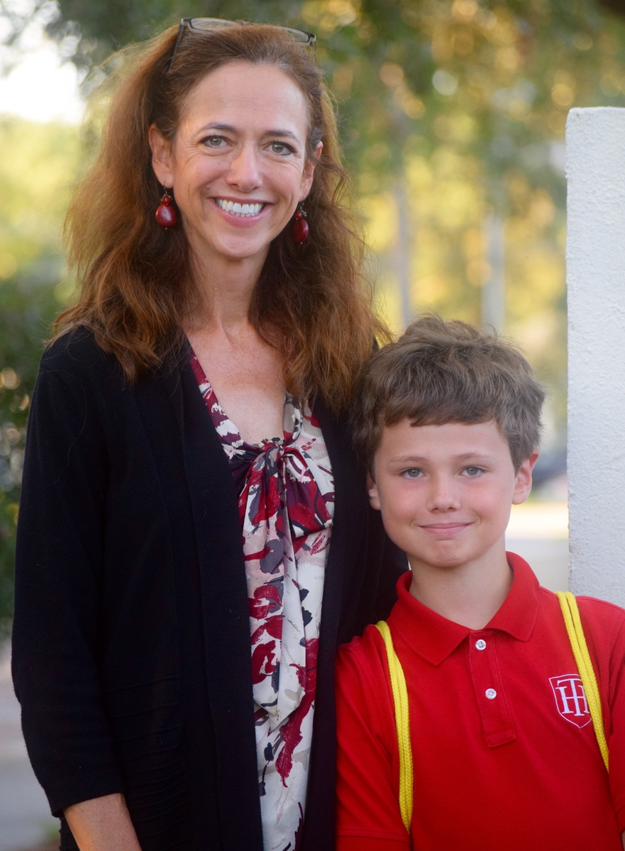 Dr. Elinor Borgert and her son Gray are shown here. Her daughters, Morgan and Mary, also attend Holy Trinity. Photo provided.