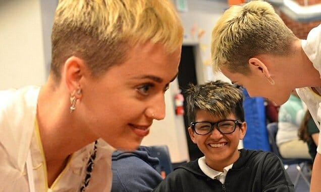 Katy Perry visits a Boys & Girls Club.