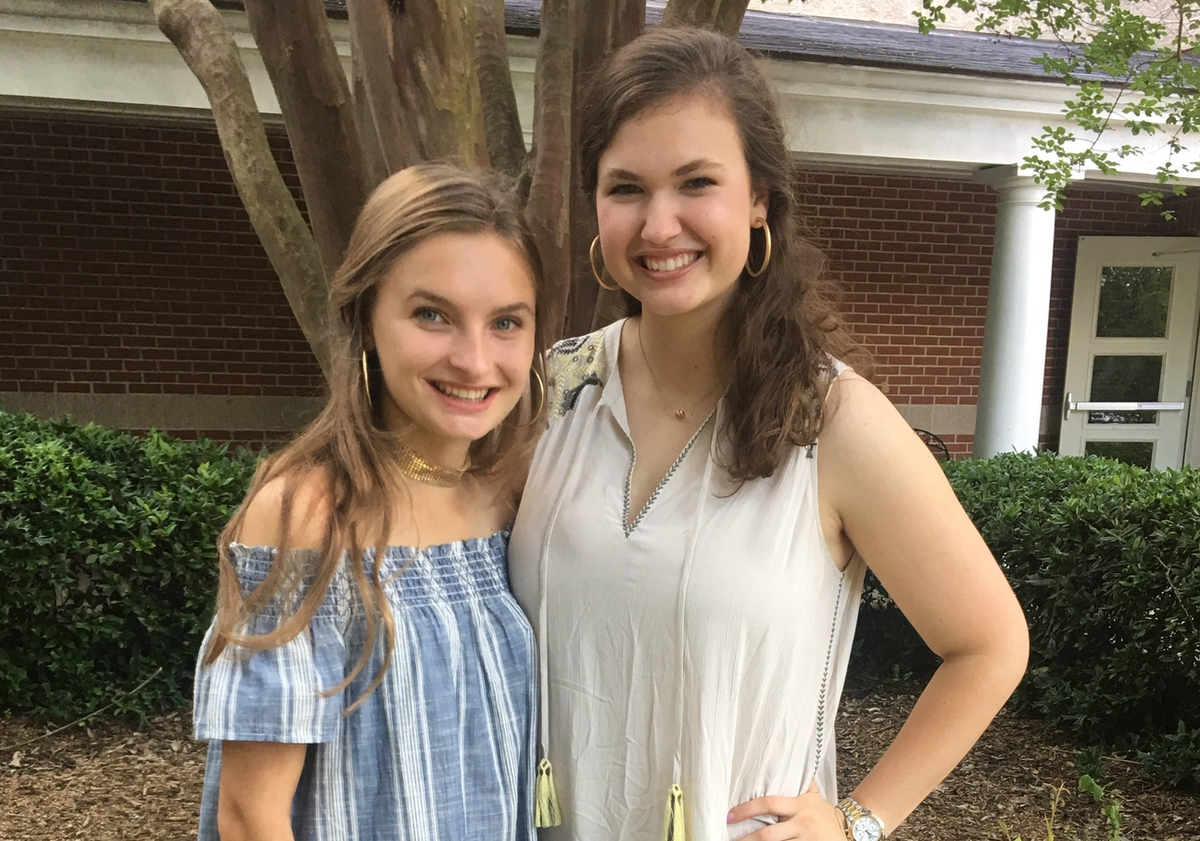 Sarah Suber and May Harrelson attended the 2017 Palmetto Girls State Encampment.