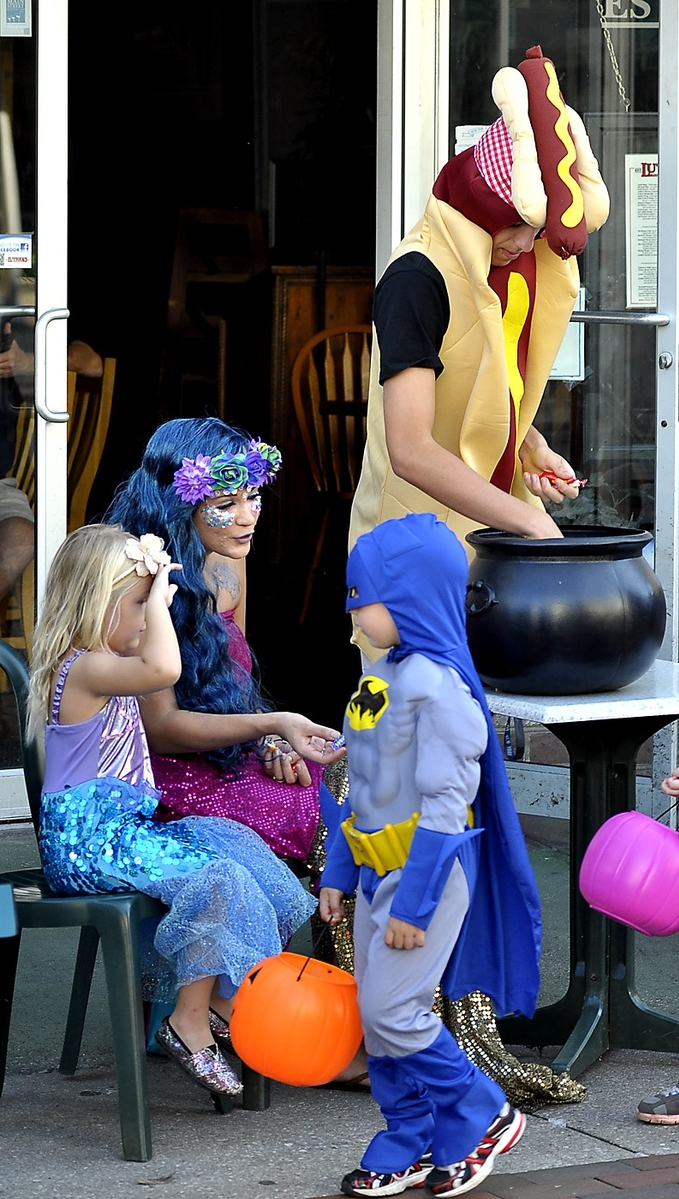 Super heros were popular in 2016 in downtown Beaufort. Photo by Bob Sofaly.