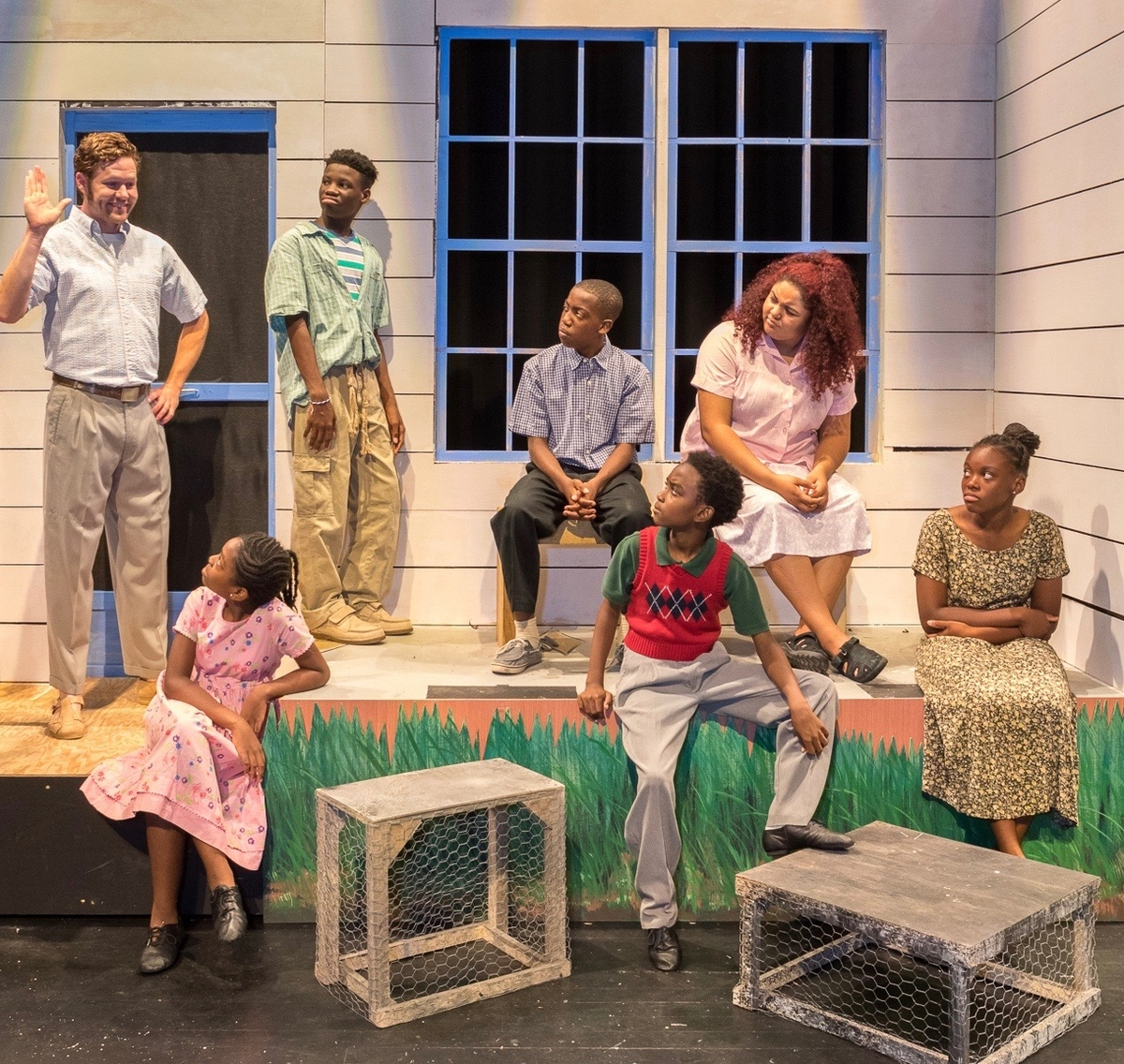 "The actors in ""Conrack"" are Blake Logan as Conrack, Jackie Bacon as Anna, Jamari Young as Top Cat, Austin Majors as Propher, Christopher Jenkins as Richard, Dasia Lucas as Cindy Lou and Lelia Green as Mary. Photo provided."
